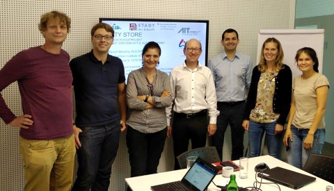 Die Projektbeteiligten beim Kick-Off-Meeting im Austrian Institute of Technology